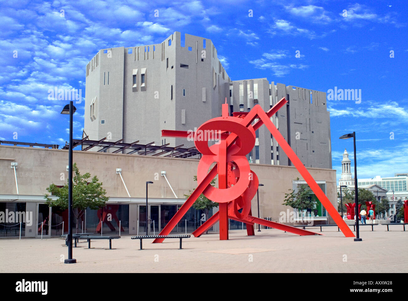 Outdoor Red Twisted Sculpture Denver Art Museum CO USA Stock Photo - Number of art museums in usa