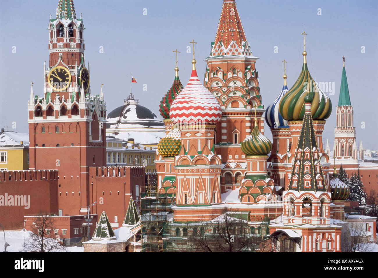 St Basil S Christian Cathedral In Winter Snow Red Square