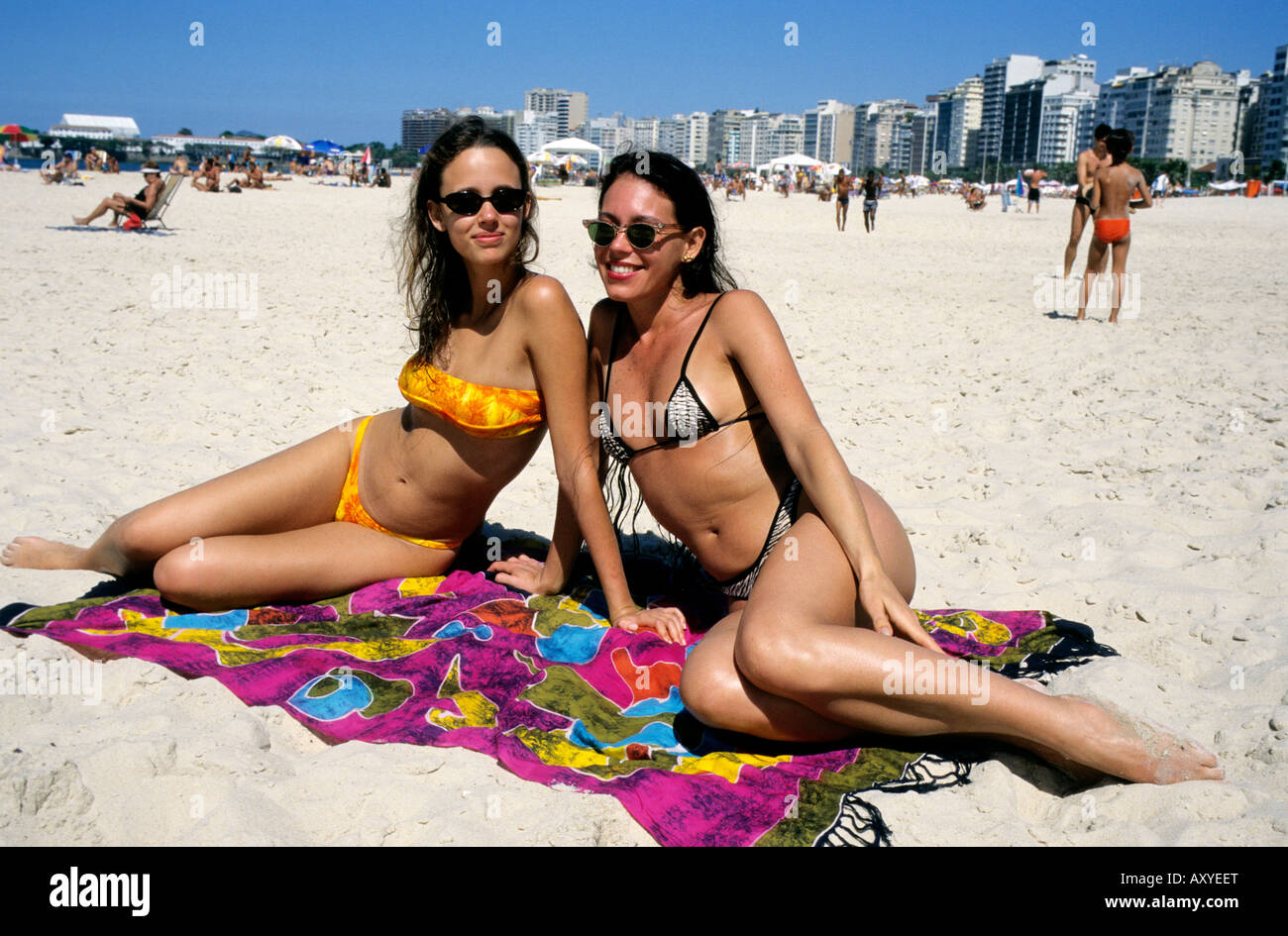 Girls at Copacabana beach   Copacabana beach, Rio de