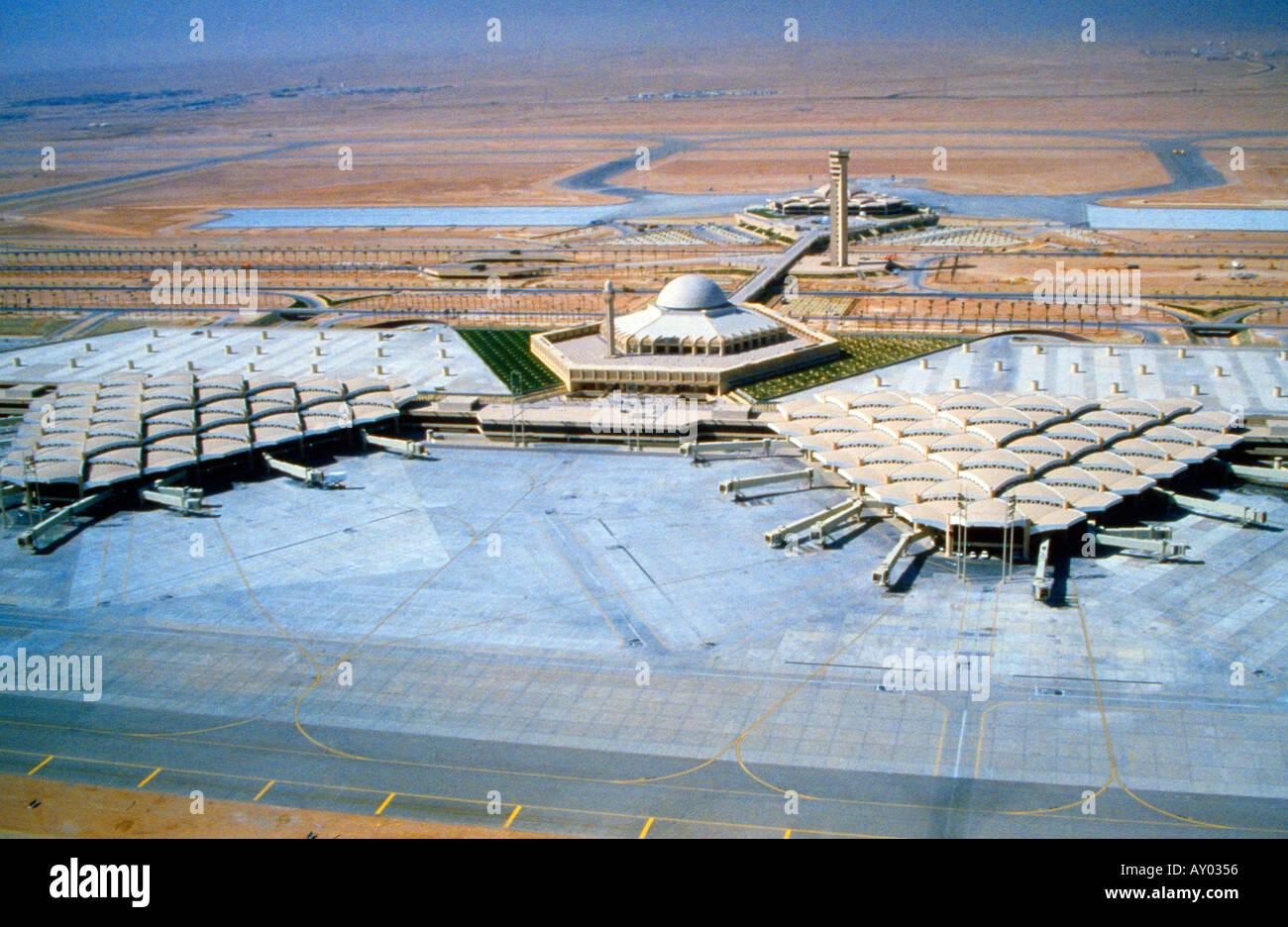 Riyadh Saudi Arabia Aerial View Of King Khalid ...