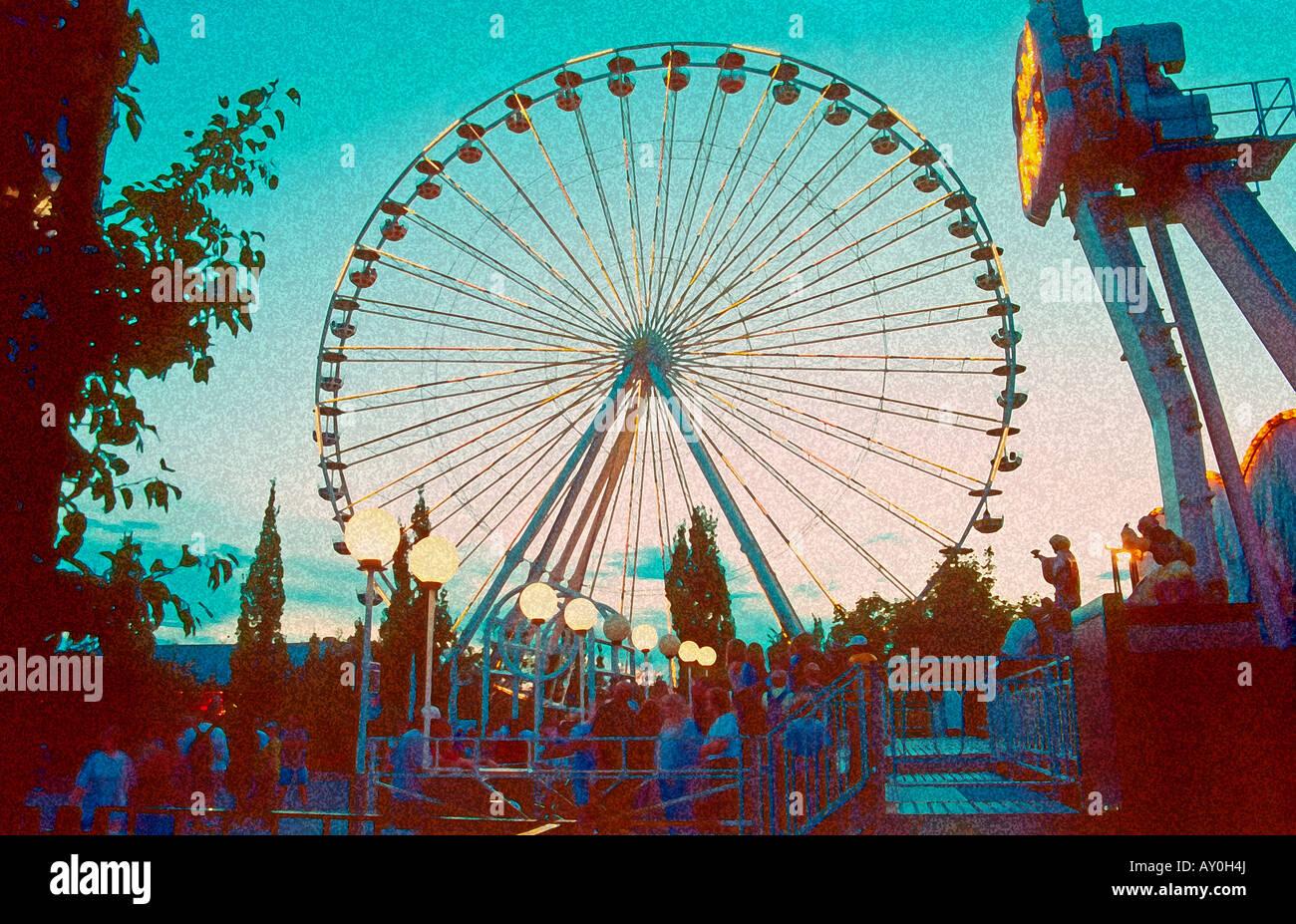 Amusement Park Rides At Lagoon In Farmington, Utah, Usa. Digital ...