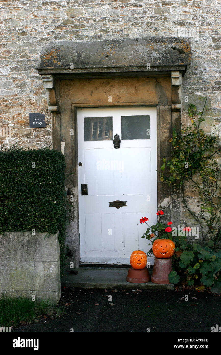 Historic doorway with Halloween pumpkins on doorstep & Historic doorway with Halloween pumpkins on doorstep Stock Photo ... pezcame.com