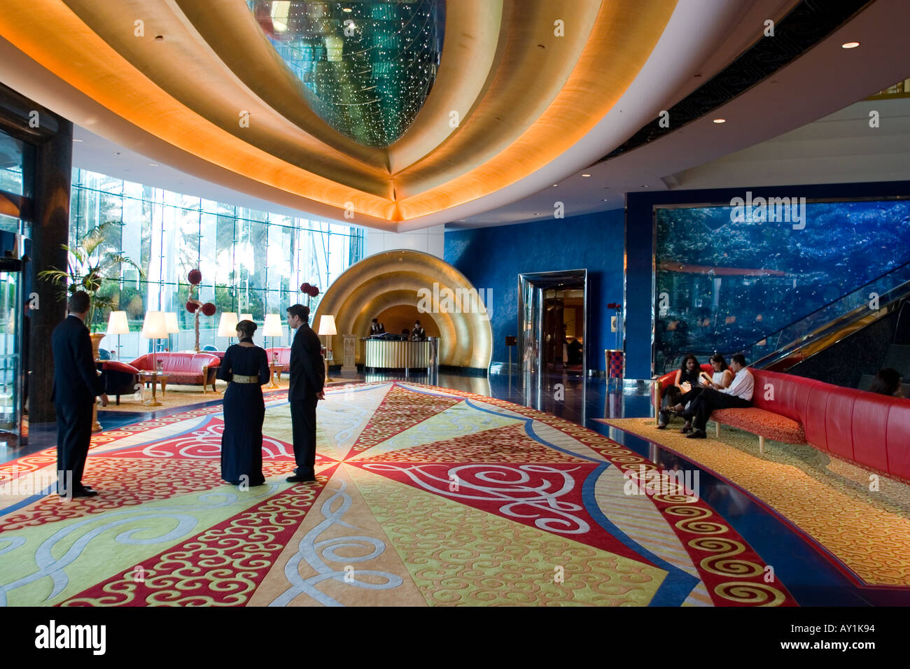 Burj al arab hotel the reception area dubai united arab for K porte inn hotel dubai