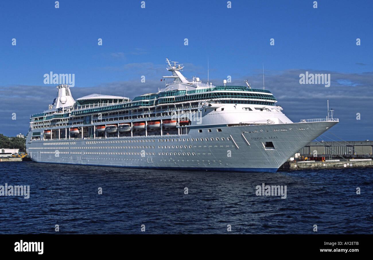 the royal caribbean cruise ship vision of the seas at victoria