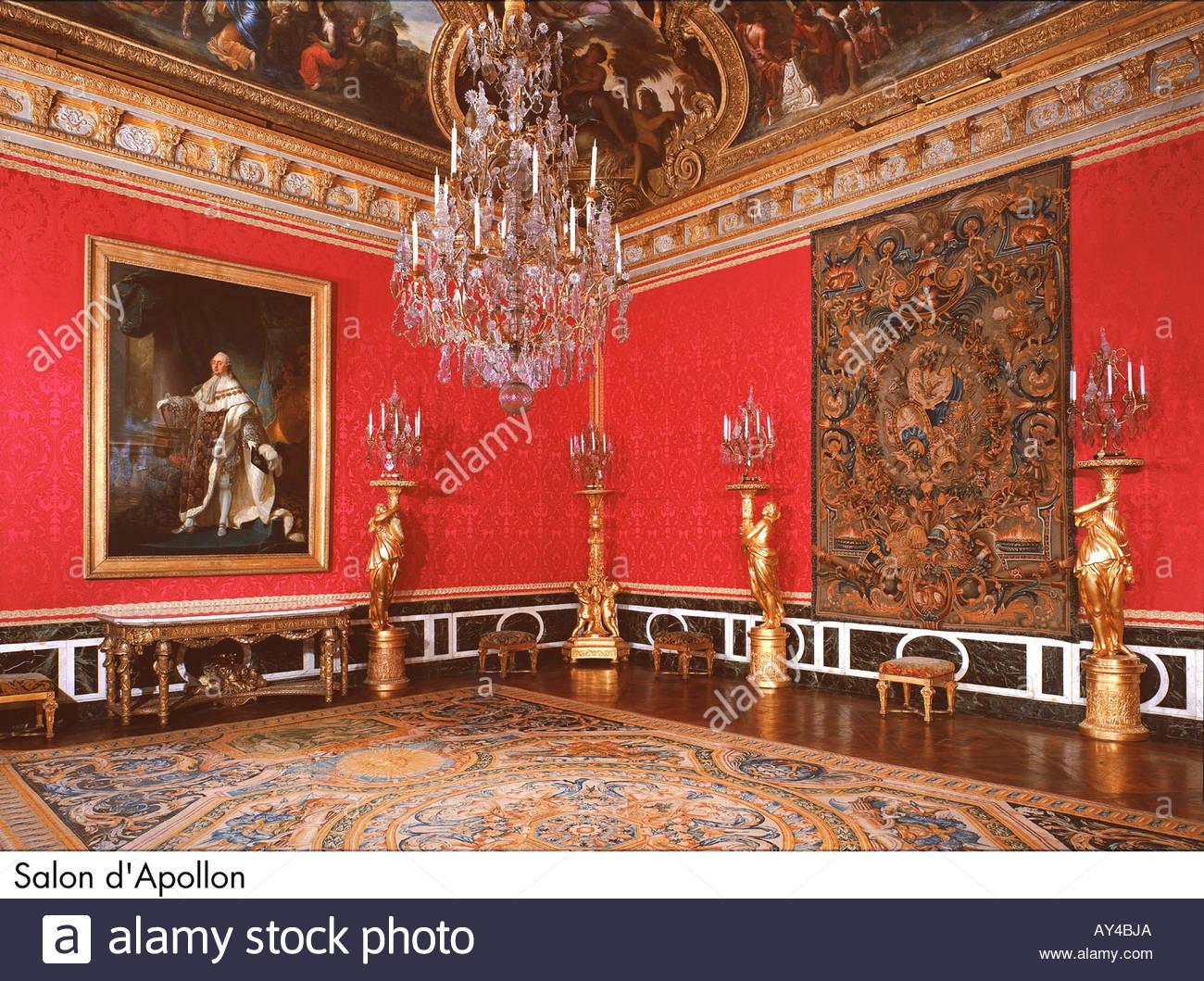 Palace of versailles salon d apollon stock photo royalty for Salon d apollon