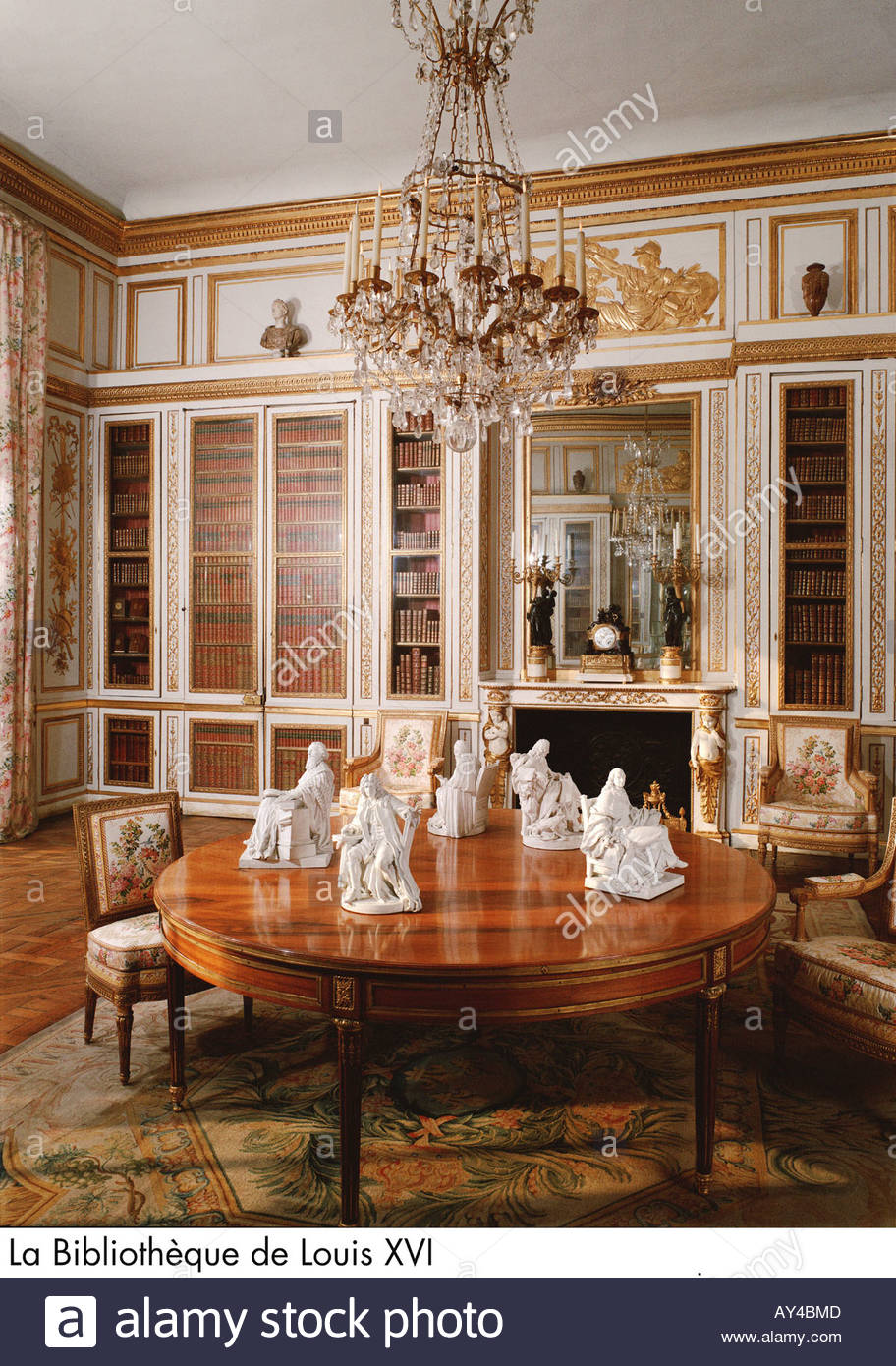 Palace of versailles la biblioth que de louis xvi stock for Chambre louis xvi versailles