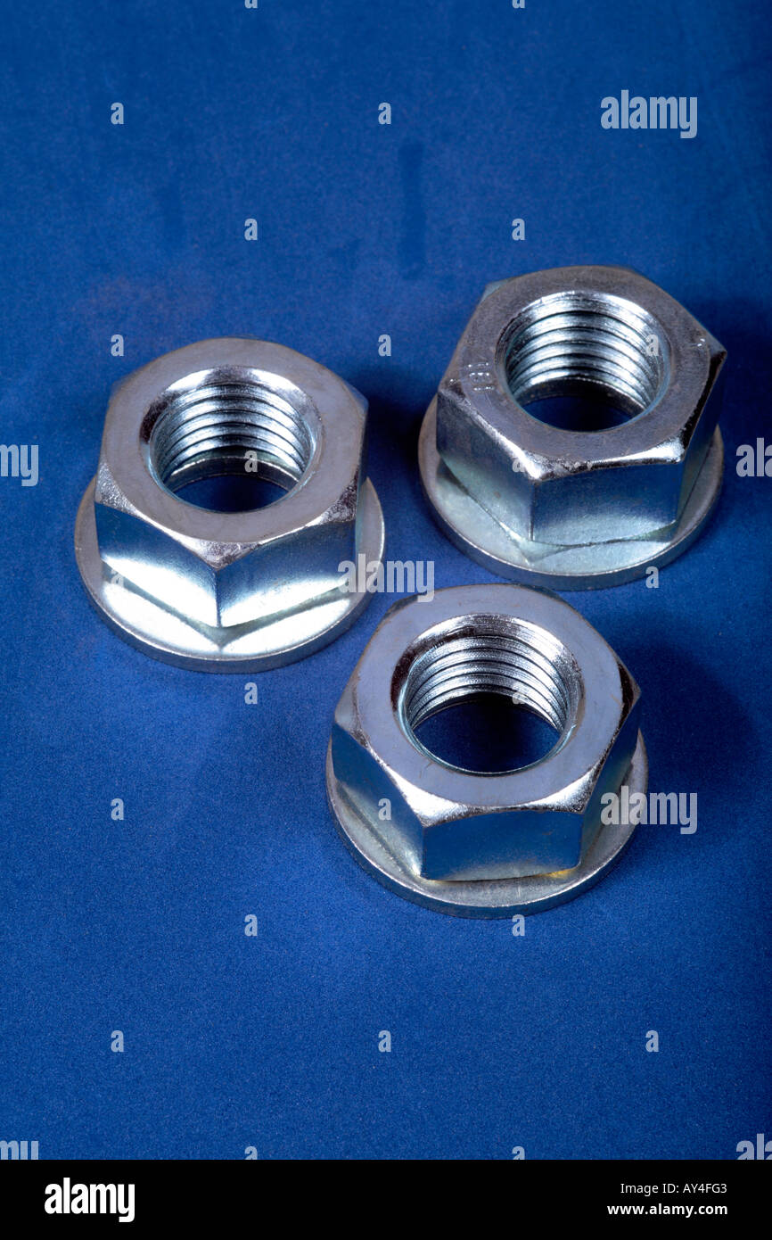 Large Washers Large Plated Steel Nuts And Washers Stock Photo Royalty Free