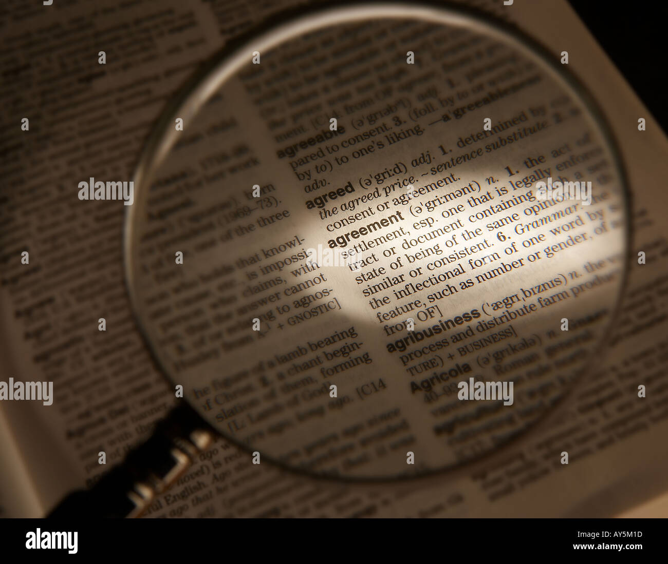 Magnifying glass on dictionary page showing definition of the word magnifying glass on dictionary page showing definition of the word agreement platinumwayz