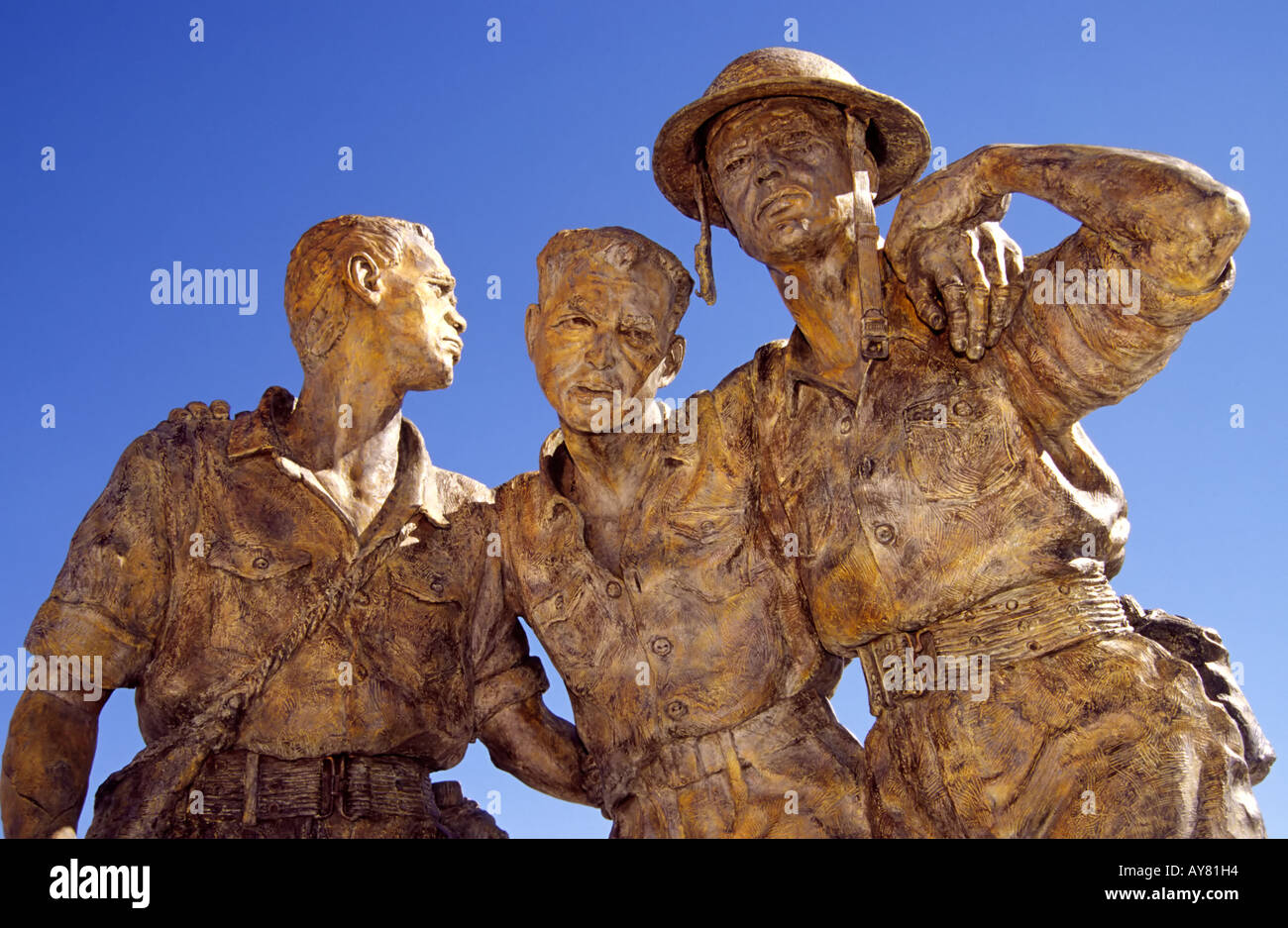 Bronze sculpture honors pow soldiers and the