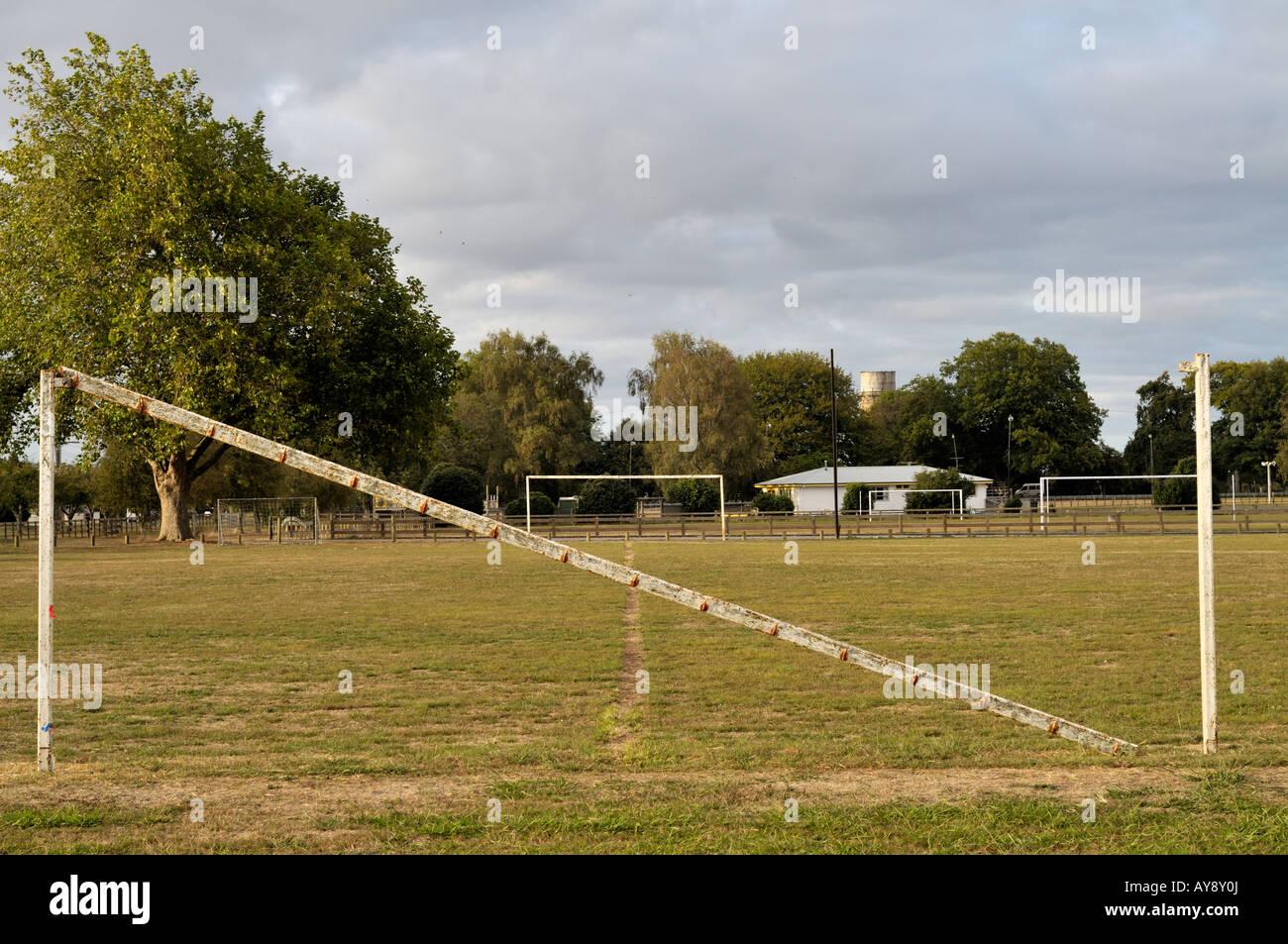 goal post on empty football stock photos u0026 goal post on empty