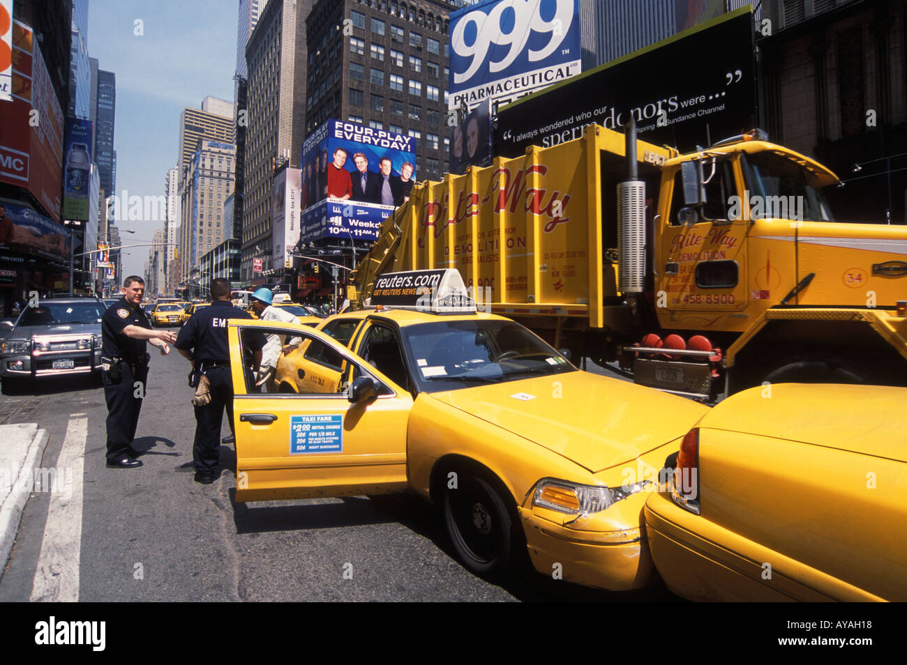 Times Square Car Accident Footage