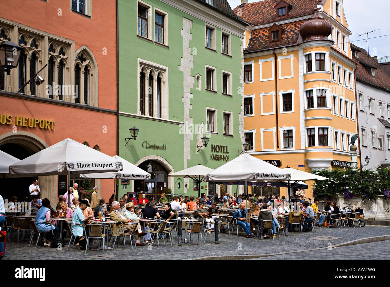 people at cafe bar in street regensburg germany stock photo royalty free image 17049387 alamy. Black Bedroom Furniture Sets. Home Design Ideas