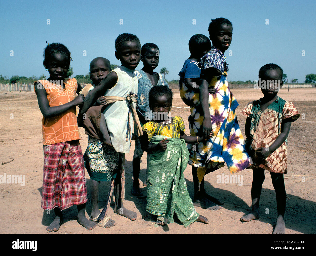 Poor Children in Gambia Afica Stock Photo, Royalty Free Image ...
