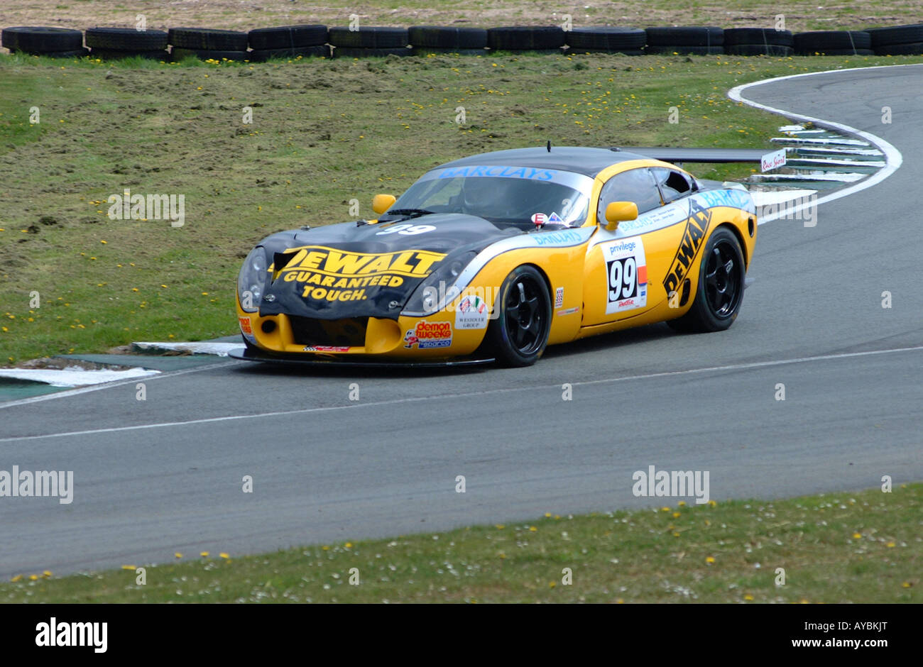 TVR Tuscan R Speed Six Motor Racing Car in British GT Championship ...