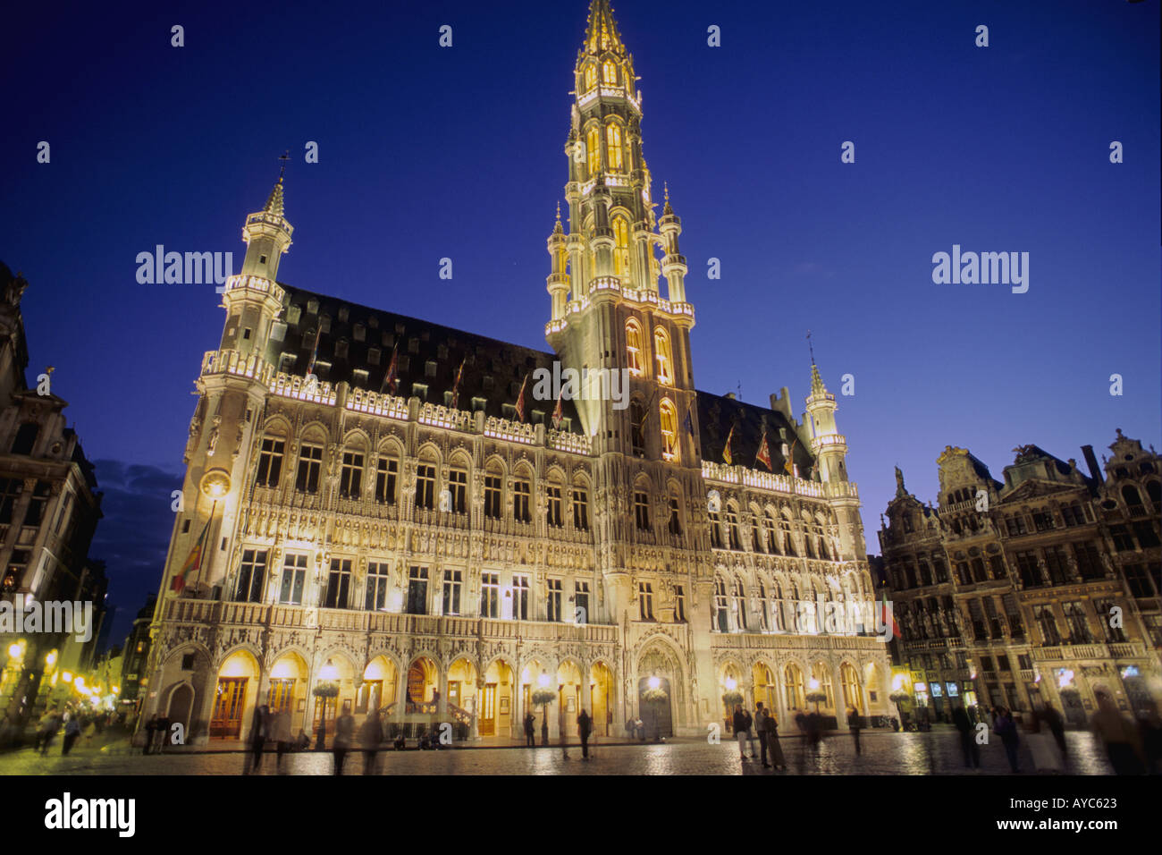 Belgium bruxelles brussels city hall hotel de ville grand - Office de tourisme bruxelles grand place ...