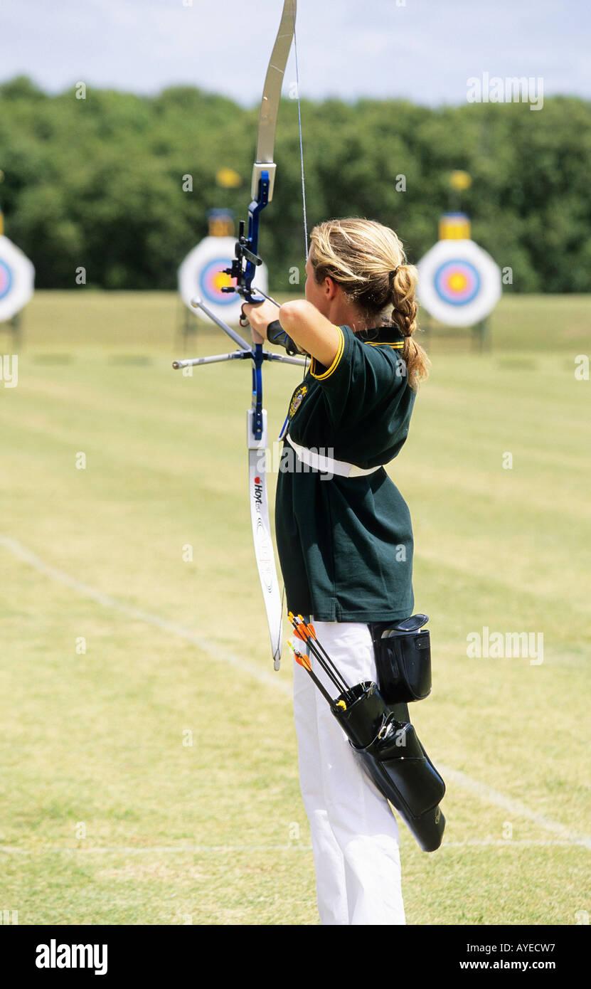 Person Shooting At A Target Sydney International Archery Park Australia Youth Olympics Olympic