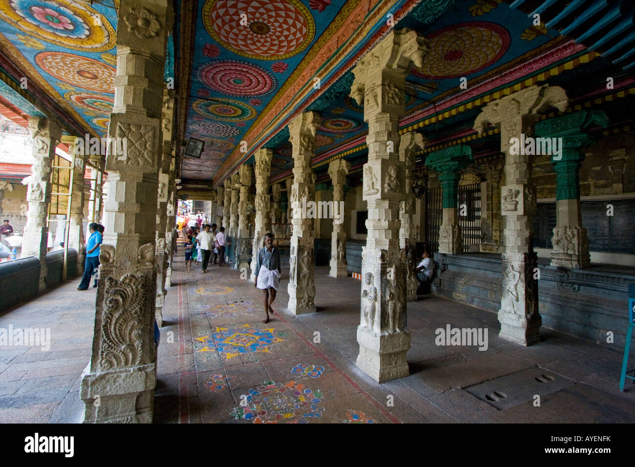 Hall Inside Sri Meenakshi Hindu Temple in Madurai South ...