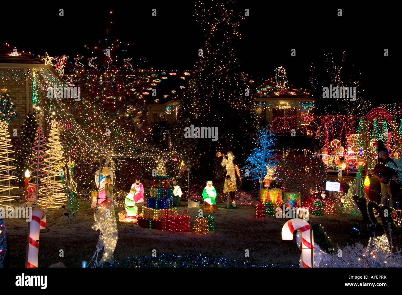 Holiday Season light display in Boise Idaho & Holiday Season light display in Boise Idaho Stock Photo: 17086326 ...