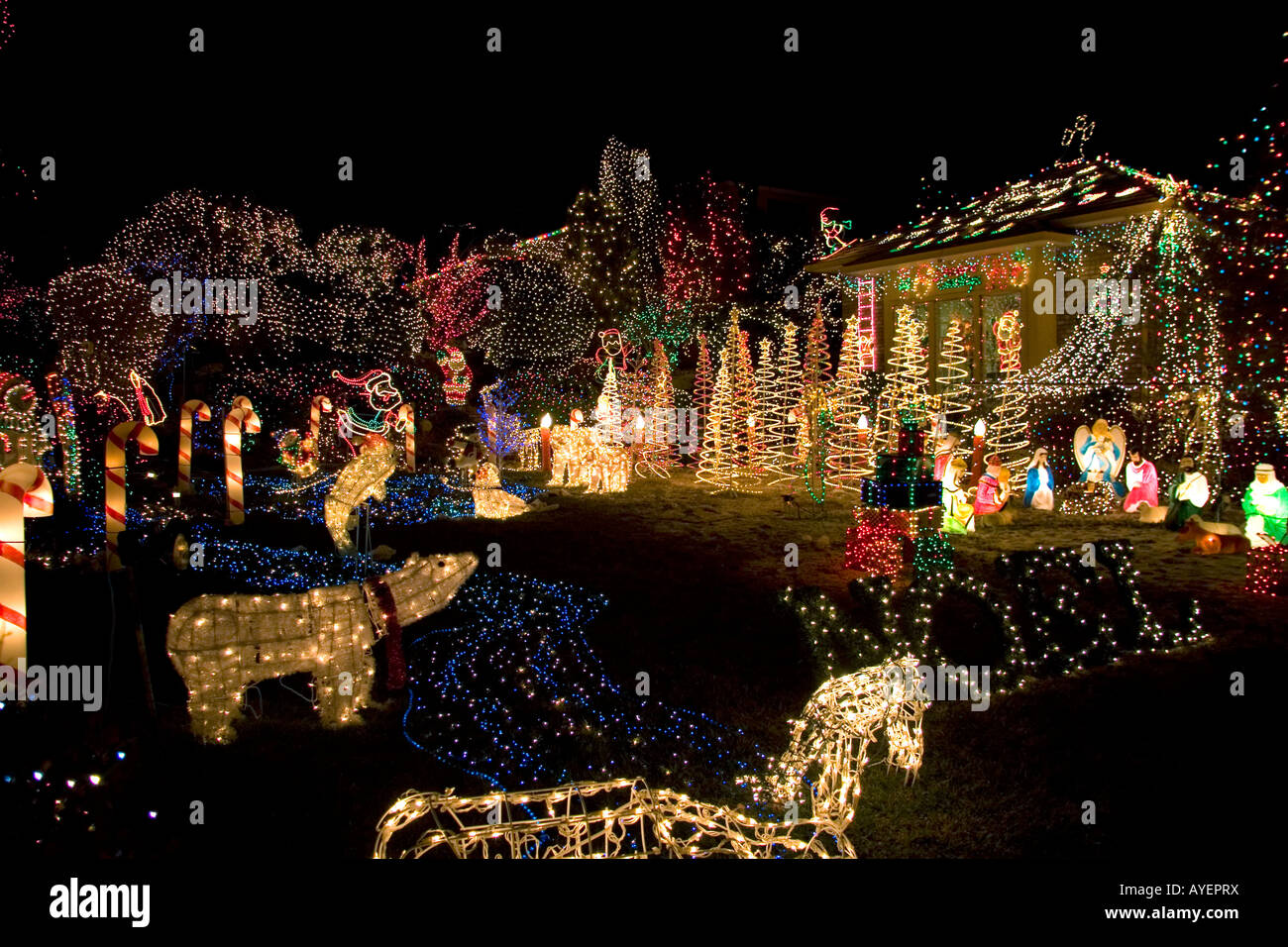 Holiday Season light display in Boise Idaho & Holiday Season light display in Boise Idaho Stock Photo: 17086333 ...