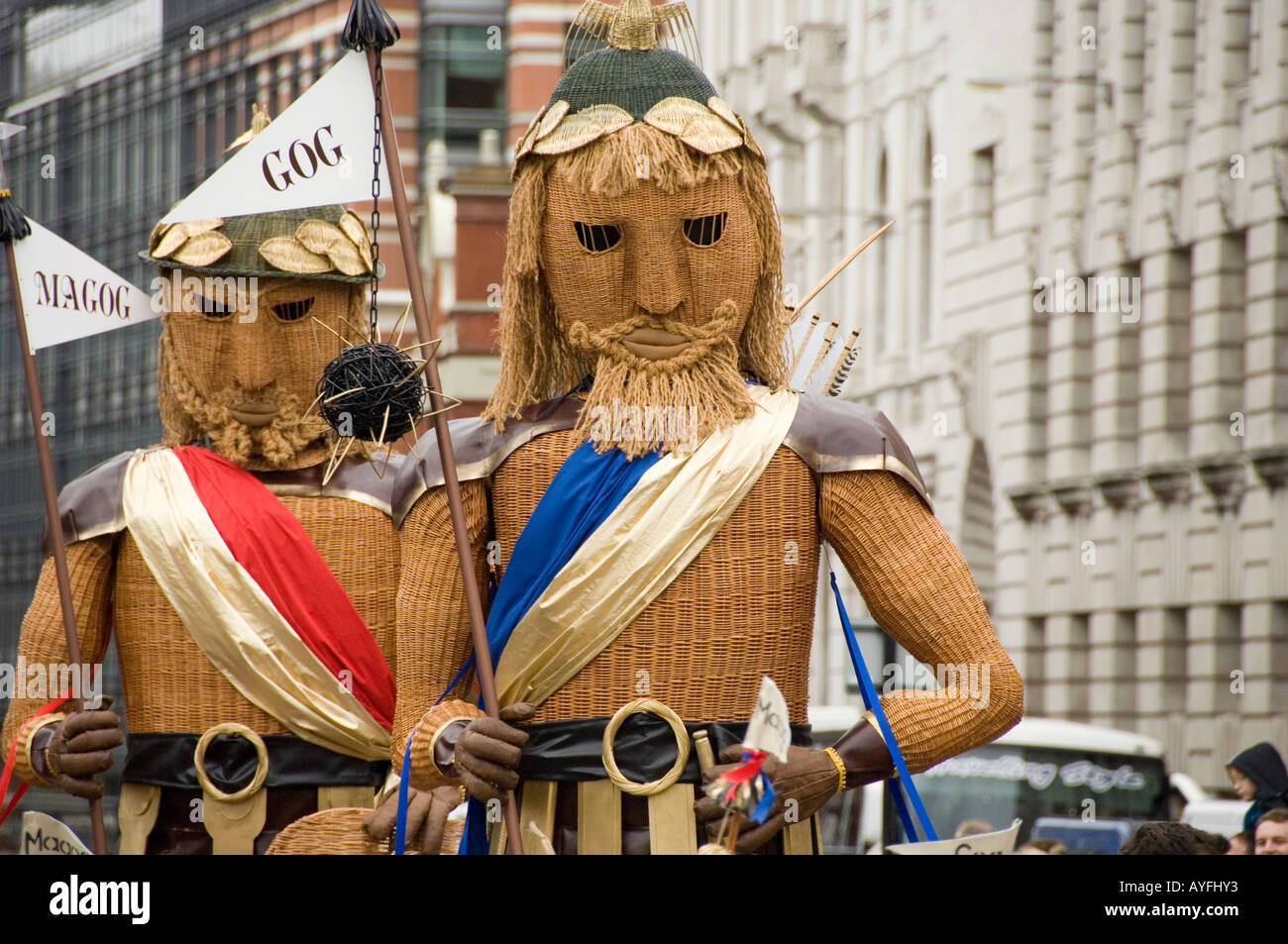 Image result for picture of lord mayor gog and magog statues