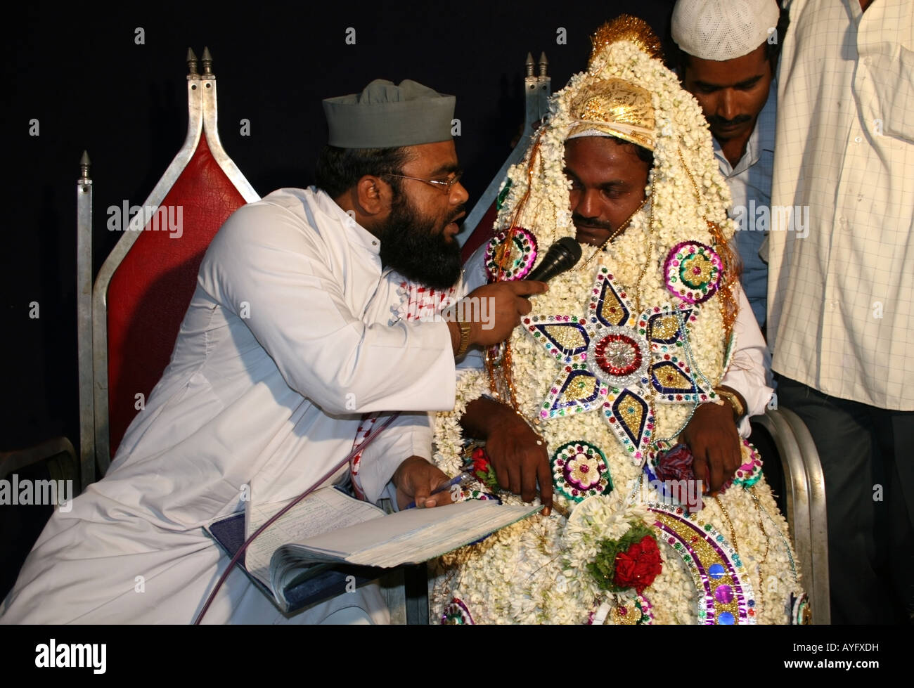 Maulvi Or Imam Conducts Islamic Wedding Ceremony Nikkah With Groom Tamil Nadu South India