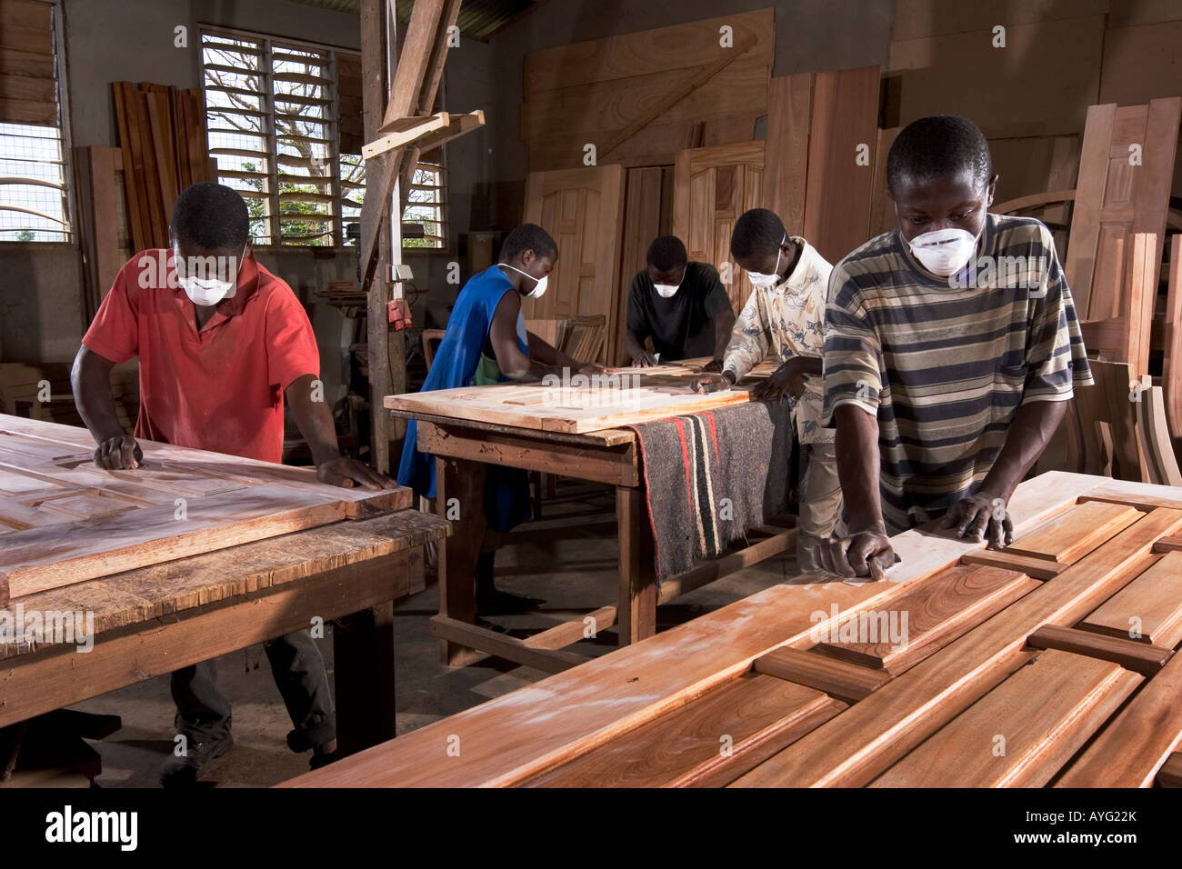 Carpenters At An African Furniture And Construction Company - Furniture nearby