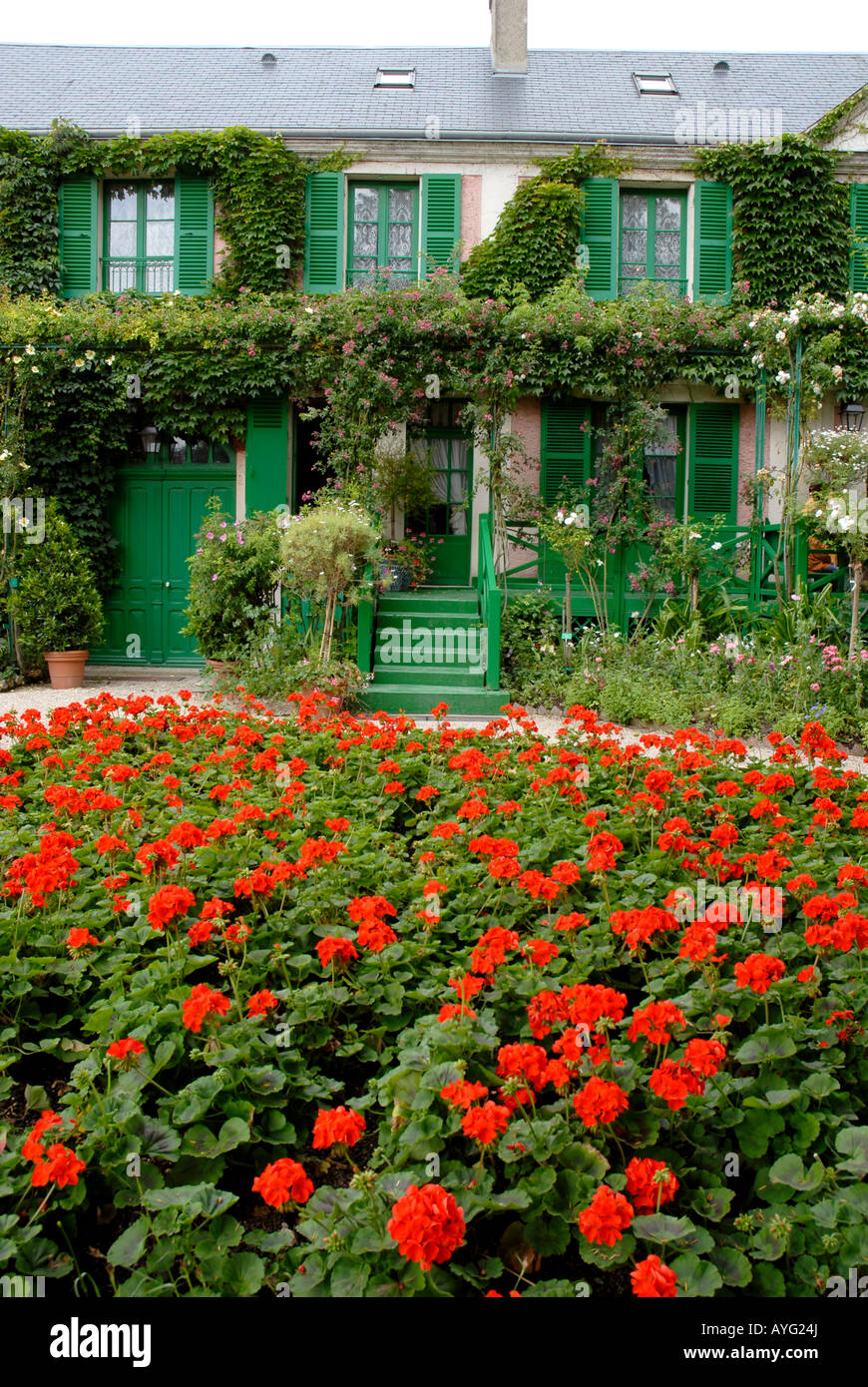The Clos Normand House Of Claude Monet Garden Famous French Stock
