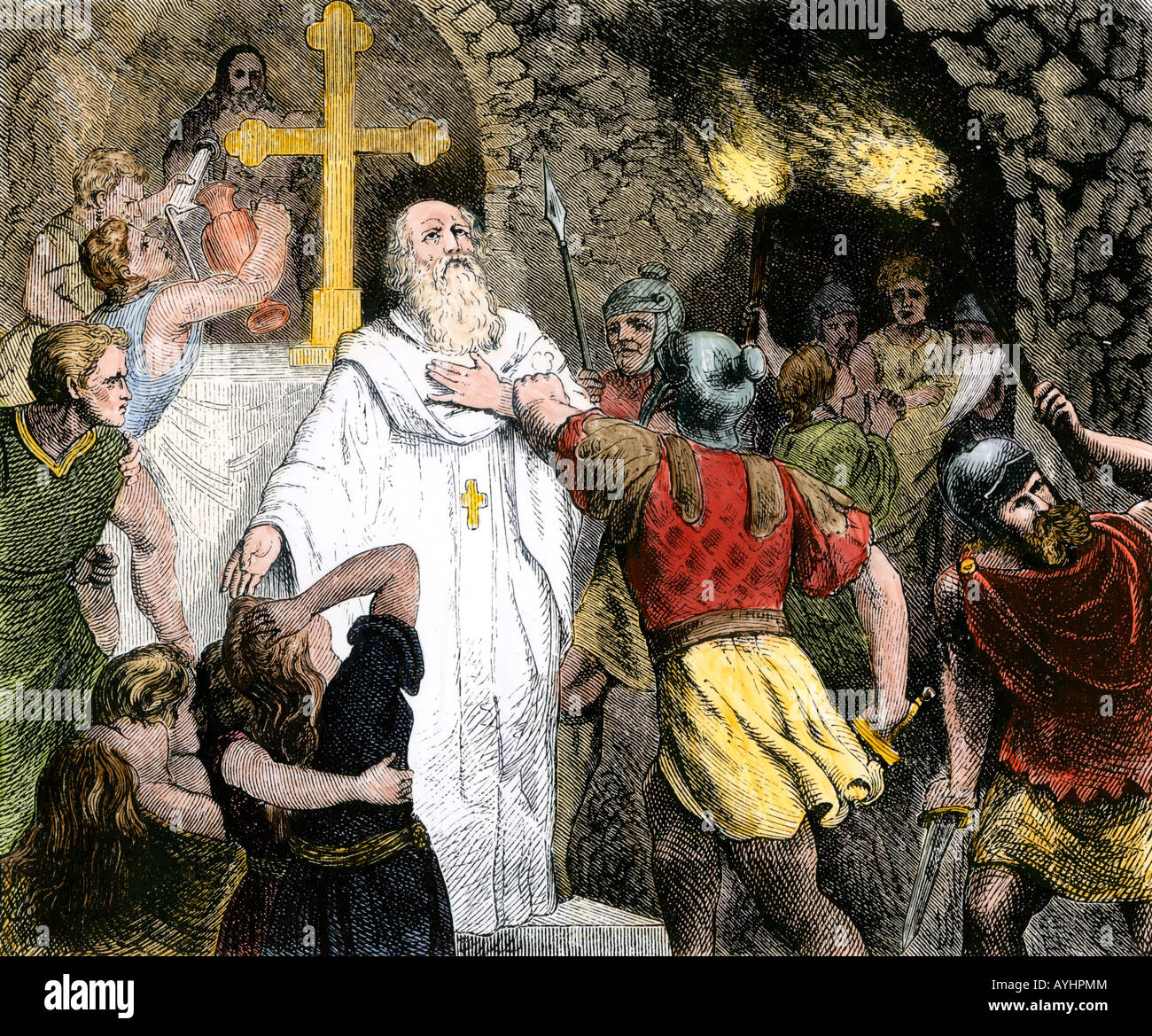 http://c8.alamy.com/comp/AYHPMM/christians-in-the-catacombs-arrested-by-roman-soldiers-AYHPMM.jpg