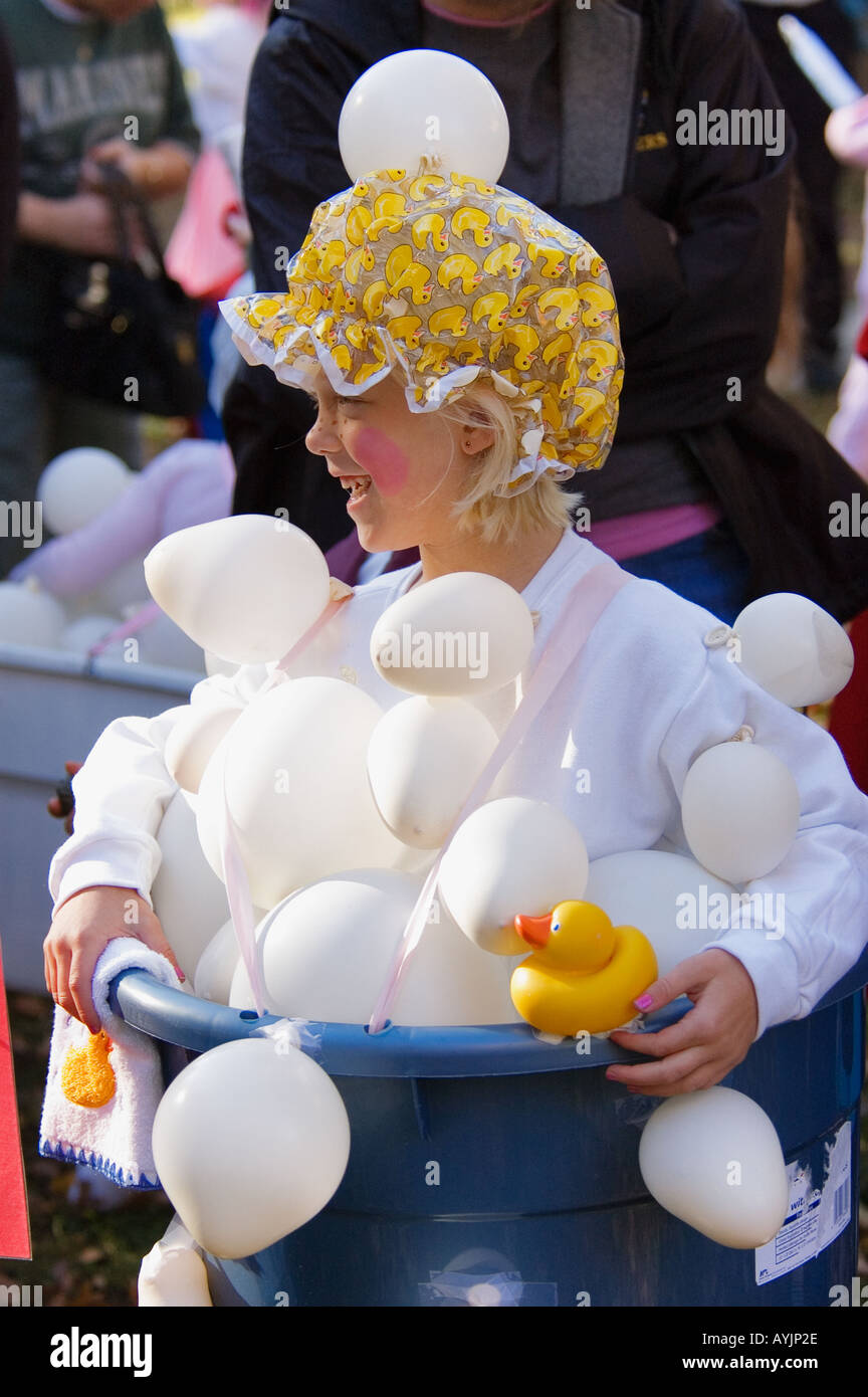 stock photo young girl in halloween bubble bath costume corydon indiana - Halloween Indiana