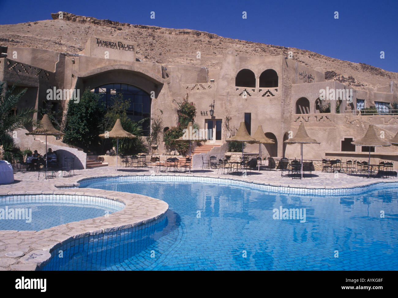 Swimming Pool Tamerza Palace Hotel Tamerza Tunisia Stock Photo Royalty Free Image 5592206 Alamy