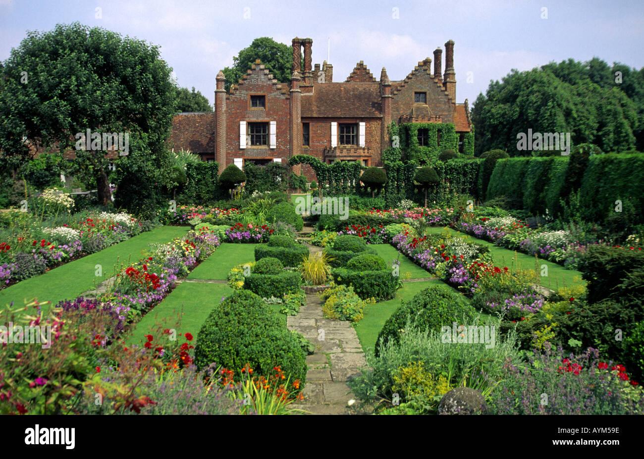 chenies manor buckinghamshire england uk stock photo, royalty free