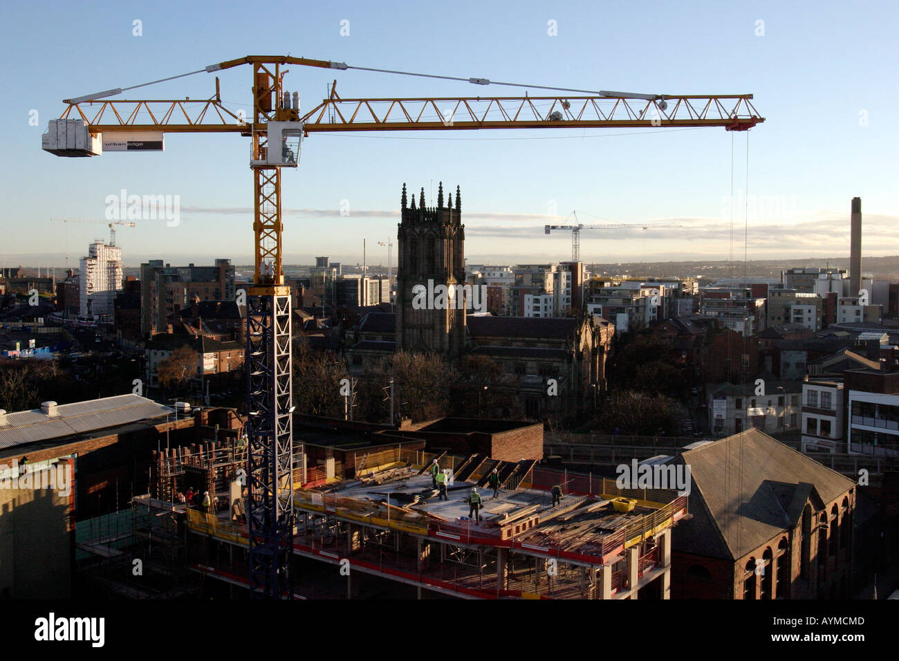 Tower Crane Ny : Leeds skyline looking south from new york street tower