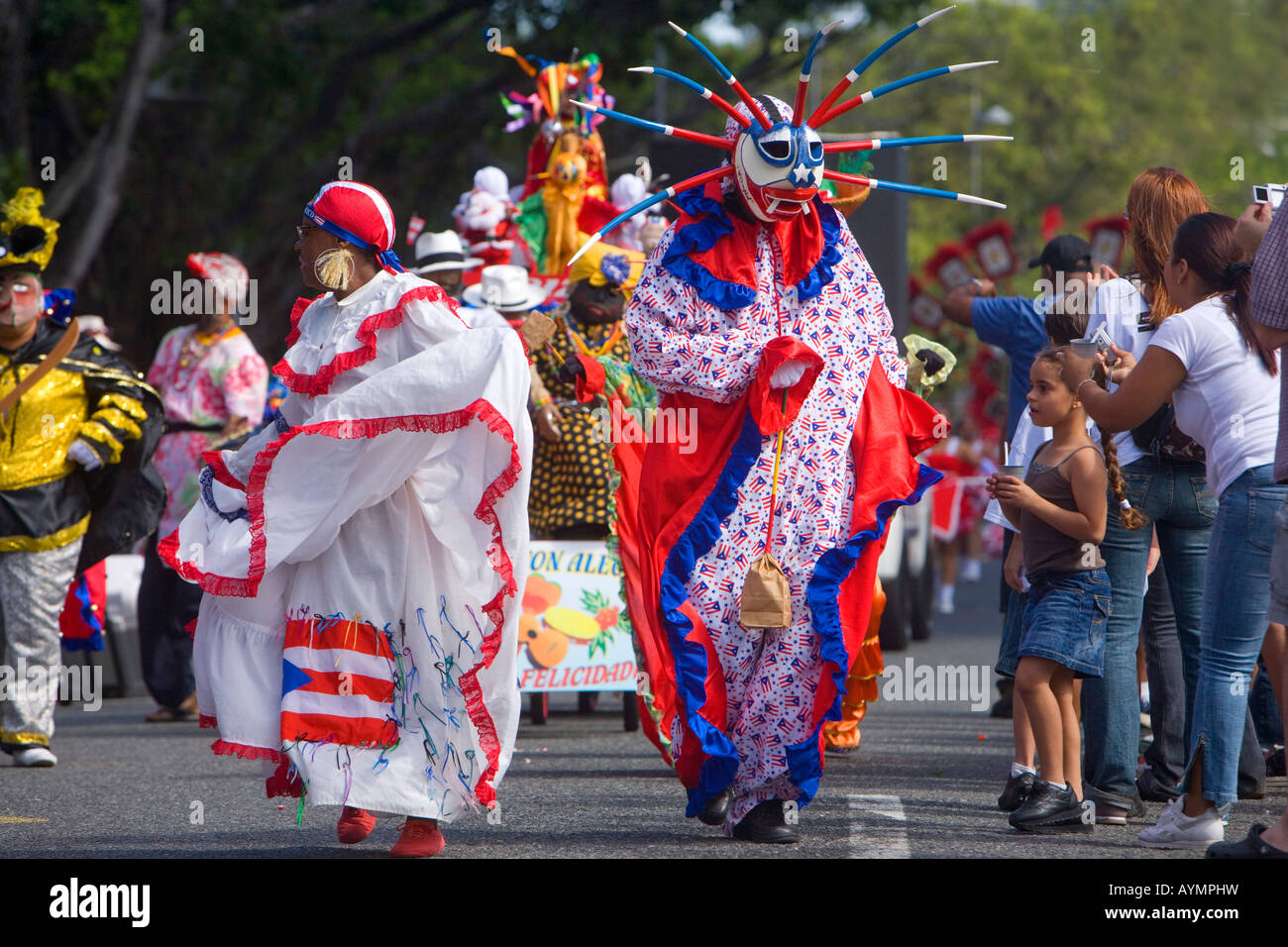 Christmas parade, San Juan, Puerto Rico Stock Photo, Royalty Free ...
