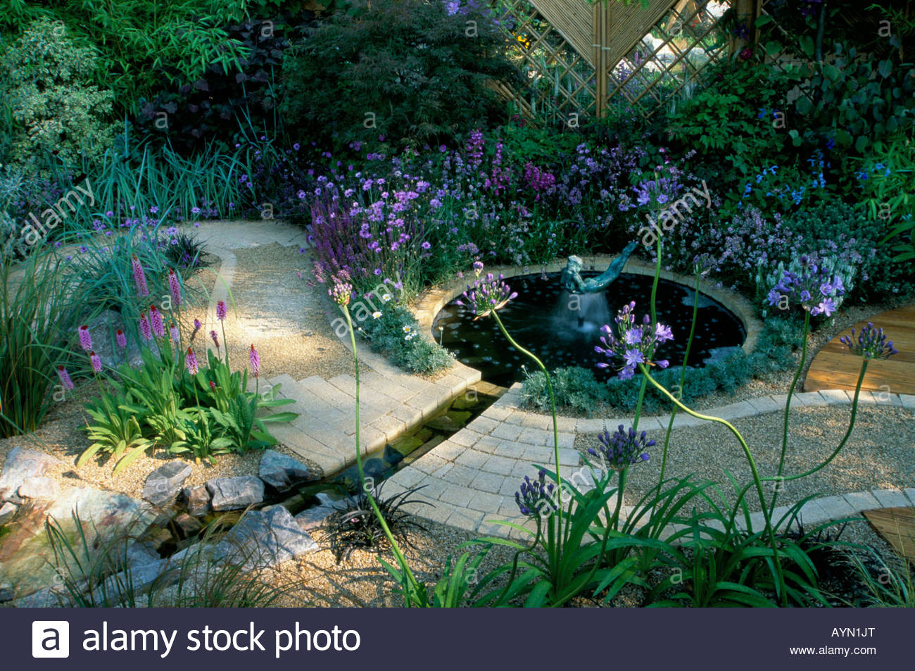 Feng shui garden design pamela woods cool blue colour for Feng shui garden designs