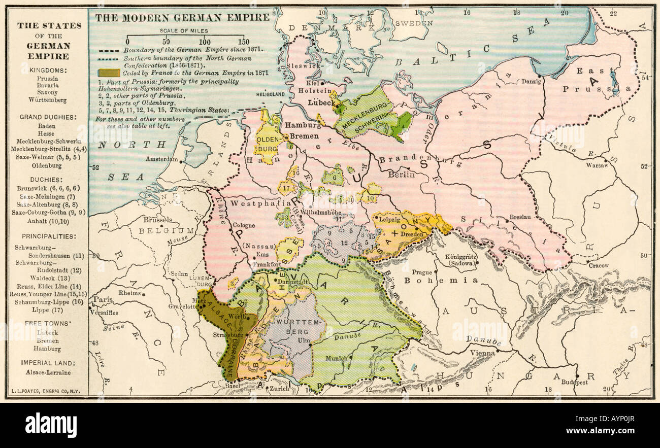 Map of the german empire before world war i circa 1912 stock photo map of the german empire before world war i circa 1912 gumiabroncs Choice Image