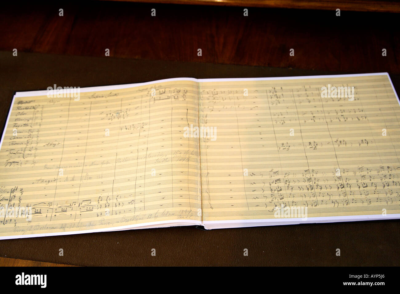 Empty room with chair violin and sheet music on floor photograph - Prague Dvorak Museum Autograph Score Symphony 9 E Minor Op 95 New World Muisc Classical