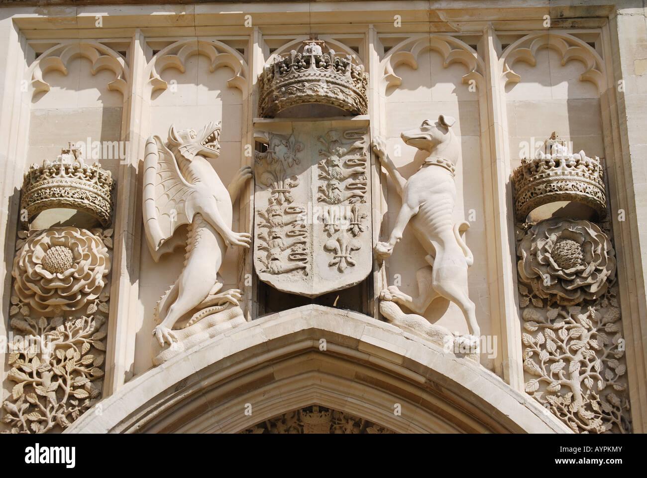 Stone Carvings Above Door King\\u0027s College Chapel King\\u0027s College Cambridge Cambridgeshire England United Kingdom & Door Kings \u0026 Old King\\u0027s School Shop With Crooked Blue Door Pezcame.Com