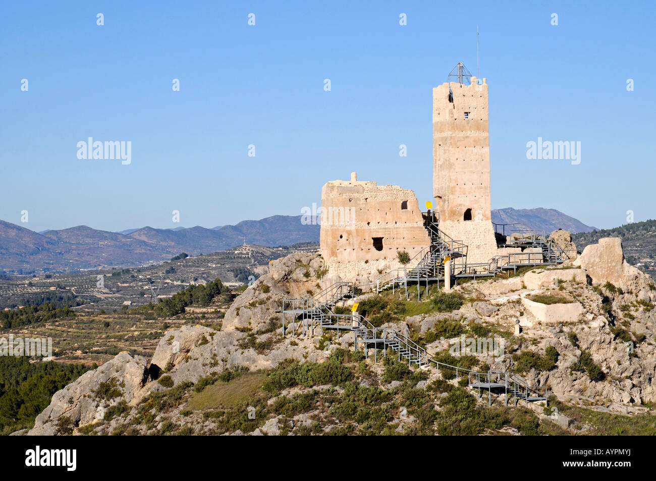 Castle ruins penella cocentaina alcoy alcoi alicante - Cocentaina espana ...