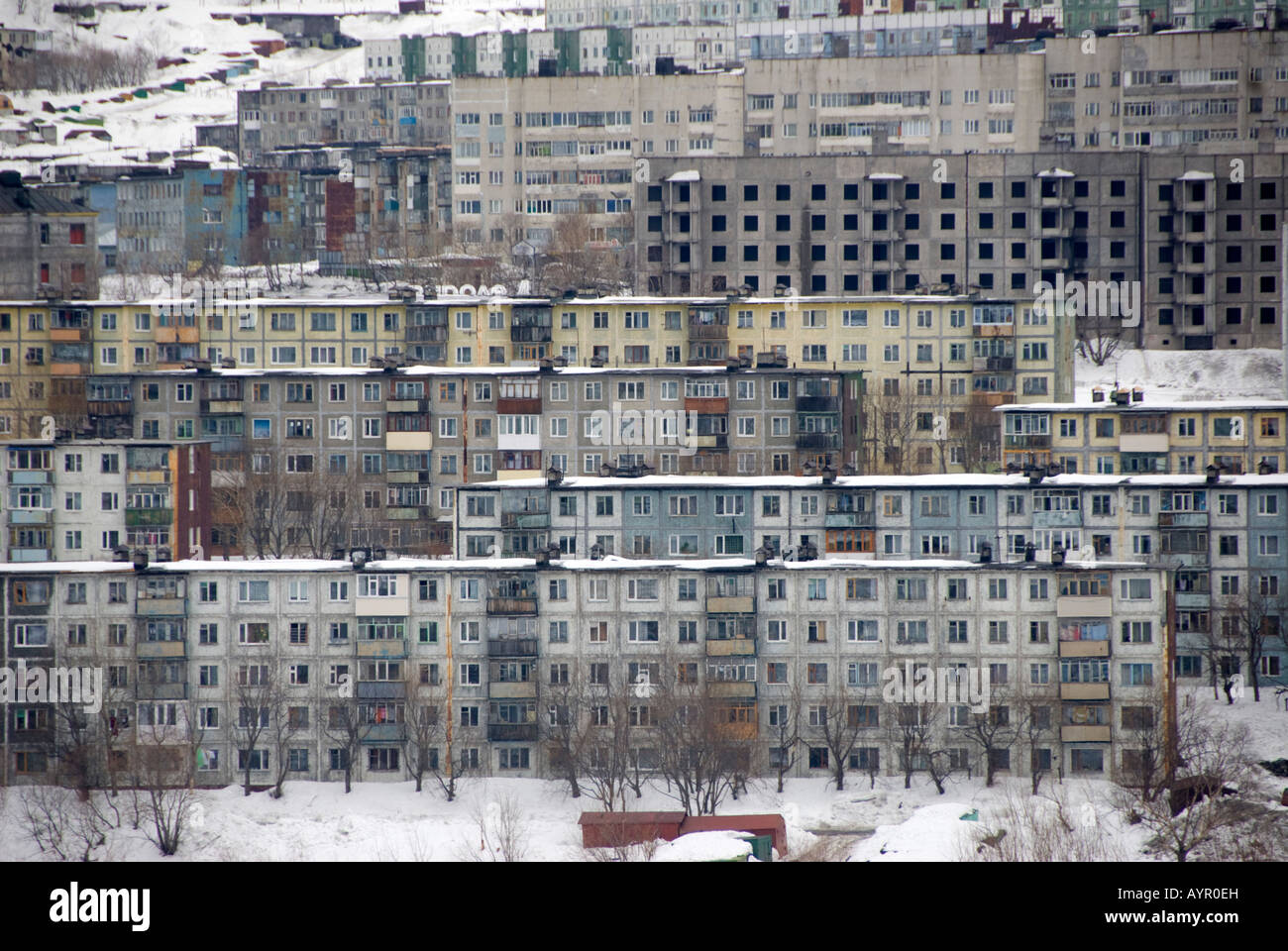 Old Soviet Apartment Building