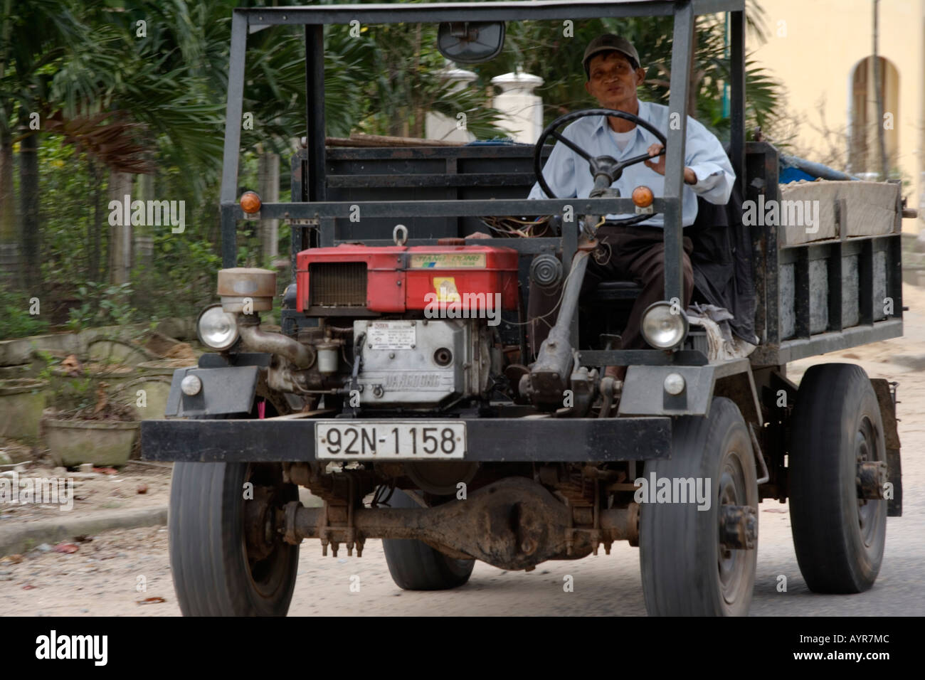 typical hand built truck with small diesel engine very popular in stock photo royalty free. Black Bedroom Furniture Sets. Home Design Ideas