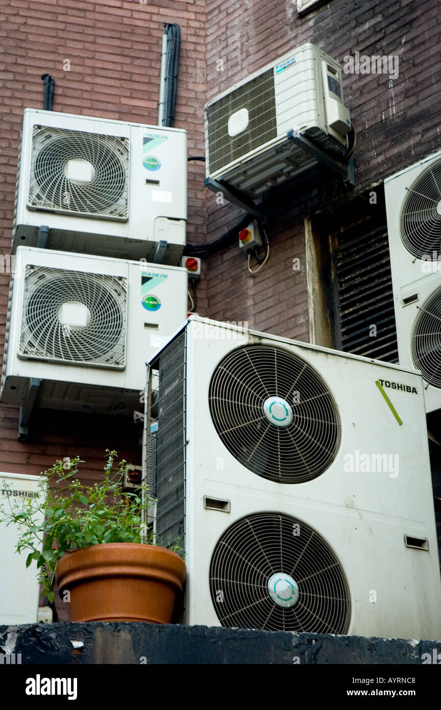 Air Conditioning Units For Apartments. Royalty-Free Stock Photo ...
