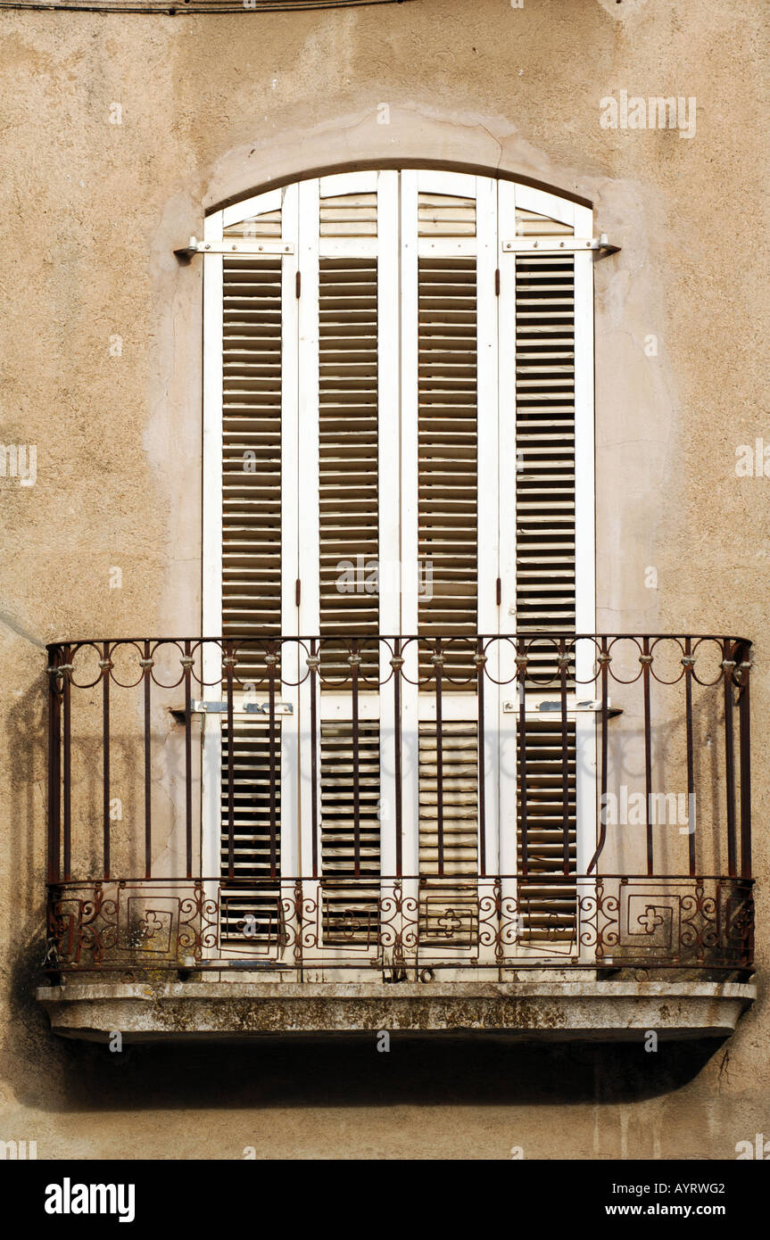 Stock Photo - traditional spanish doors shutters on windows in catalonia costa brava spain : spanish doors - Pezcame.Com