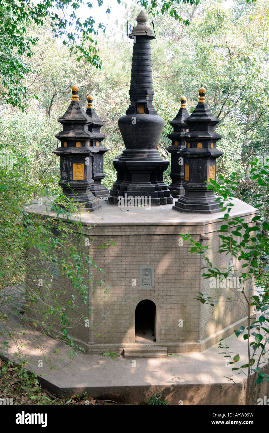 Stock Photo   The Diamond Pedestal Pagoda Of Guangde Temple In The Pagoda  Garden Of The Six Harmonies (or Liuhe) Pagoda, Hangzhou, China