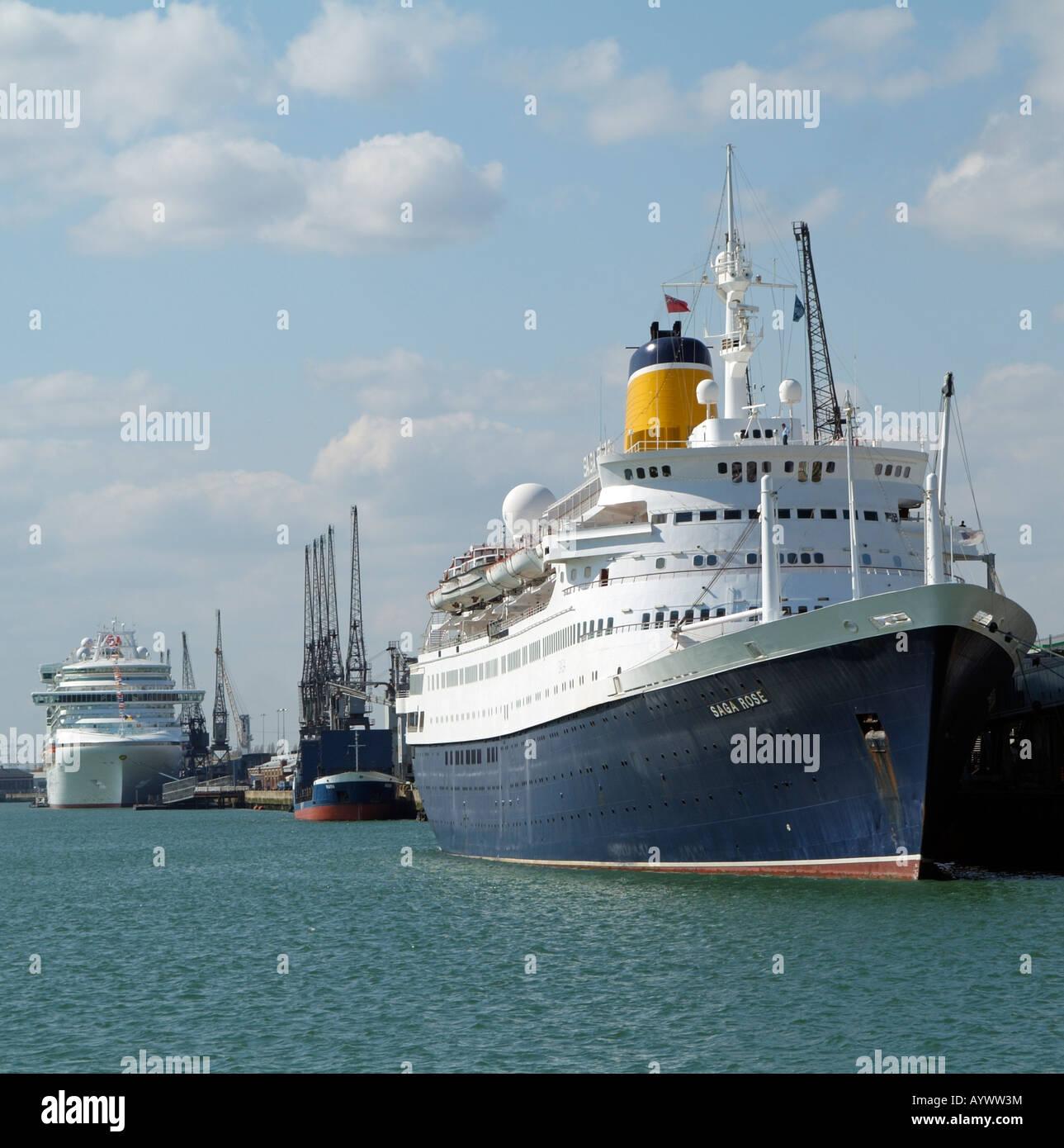 Saga Rose Cruise Ship Port Of Southampton England UK In