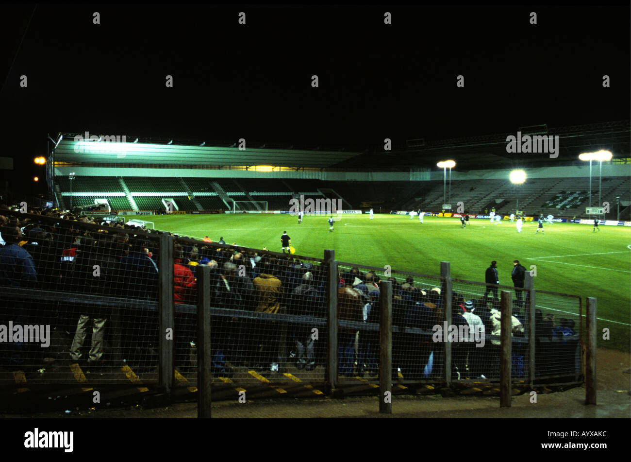 Plymouth Argyle Football Club Playing A League Game At Home Park During Refurbishment Of The Stadium In Devon UK