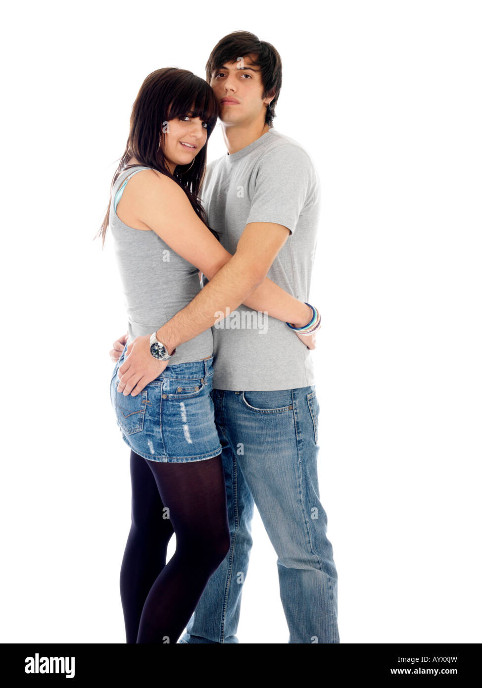 Happy Young Couple Hugging Models Released. Happy Young Couple Hugging Models Released Stock Photo  Royalty