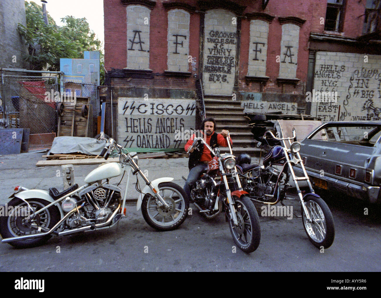 Hells Angels Of New York At 80 Ties Stock Photo Royalty Free Image 9830197