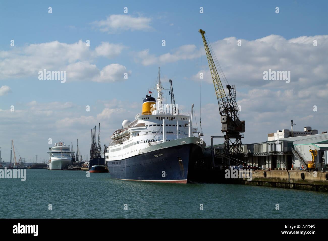 Saga Rose Cruise Ship Port Of Southampton England UK Dockside - Cruise ship supplies
