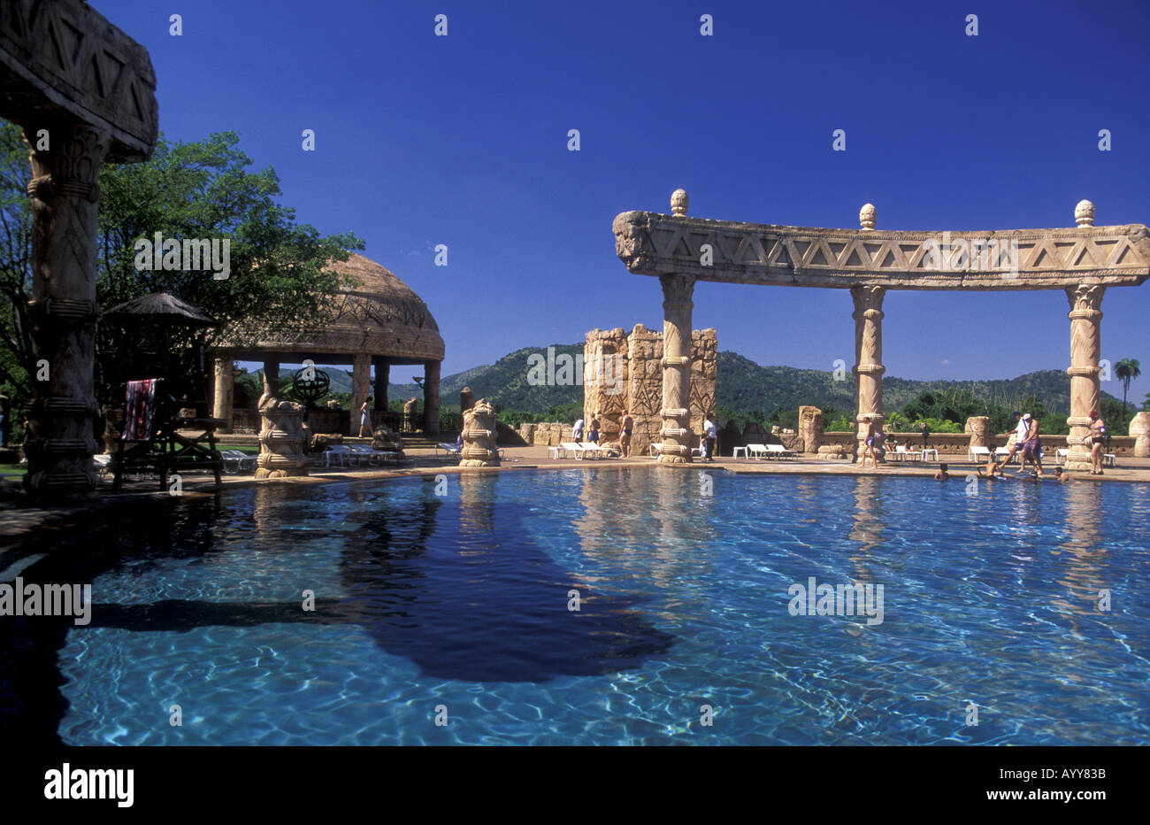 Swimming Pool At The Lost City Complex Sun City South Africa Stock Photo 3209274 Alamy