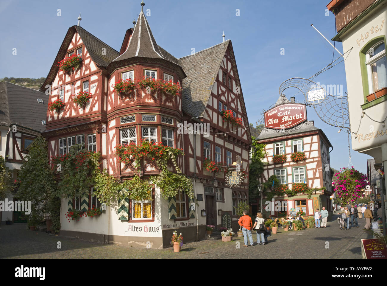 Framework Architecture In The German Middle Rhine Valley An Old Wine House Bacharach